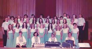 Pictured are (left to right): Front row – 4 Disciples, Curtis Powell, Scott Fancher, Rick Billingsley, and Hoyt Hatfield. Second row - Moppy Billingsley, Karen Powell, Denise Watkins, Lisa Pike, Pat Allen, Gerry Higgins, Sandra Steele, Sharon K. Fields, and Judith Roberson. Third row – Pastor Dillard Miller, Kathy Malone, Sheila Powell, Sandy Thomas, Ora Sue Higgins, Cindy Townsend, Jaree Sherrer, Debbie Philpot, Judy Thomas, Patty Hoover, and Valda Sherrer. Row 4 – Jane Long, Nellie Miller, David Rogers, Shelton Bohlman, David McCurdy, Brett Morris, Rod Cole, Kent Fancher, Billy Long, Greg Roberts, Barney Sherrer, Laverne Kelly, and Ray Kelly. Not pictured are: Rod Miller, Betty Drye, and Emily Roberts.