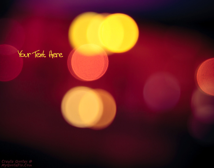 Girl Walking Alone Wallpaper Write Quote On Lights Bokeh Photo Picture