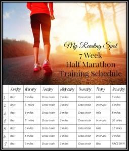 7 week half marathon training schedule