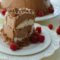 French Silk Angel Food Cake