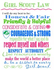 Girl Scout Law Printable