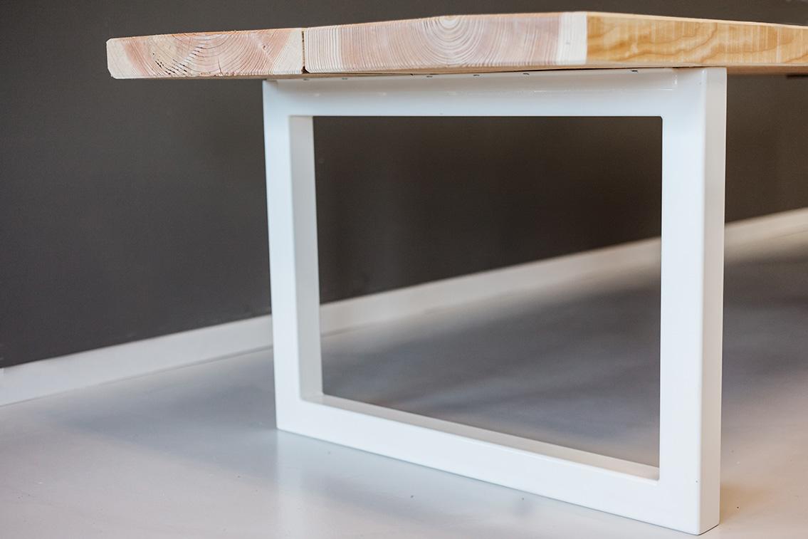 Industrieel Tafel Onderstel : Eettafel onderstel hout industriële eettafel 160x90cm met railway