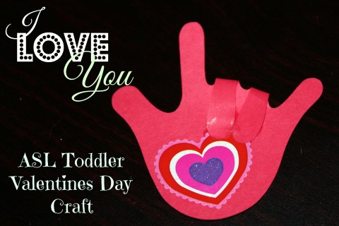 LOVE YOU Hand Valentines Day Craft Valentine Craft Paper