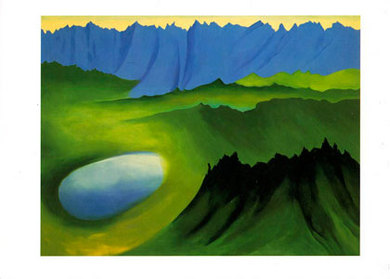 O'Keeffe Lake and Mountains