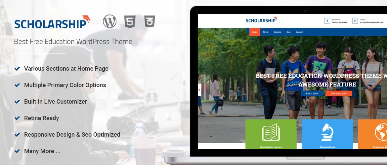 Best Free WordPress Education Theme - Scholarship - MYSTERY THEMES