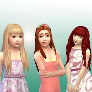 Girls Long Hair Pack 9