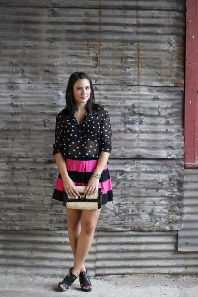 Stripes and Polka Dots - Mixing Prints - My Style Vita - stripes with polka dots