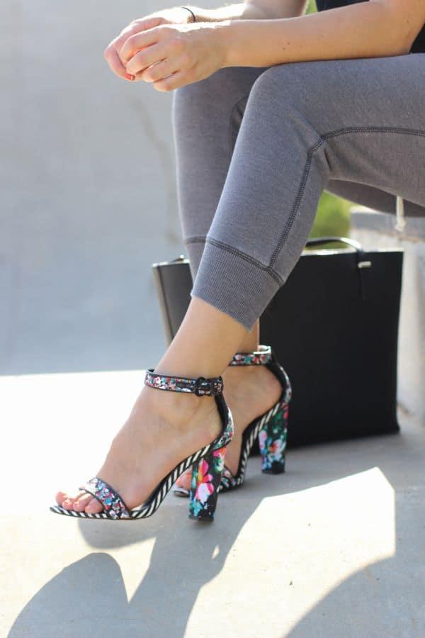 Floral sandals, aldo shoes