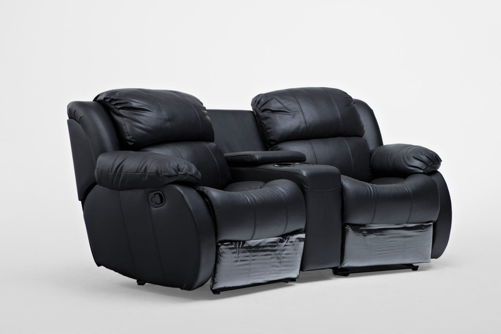 2 Seater Recliner Lounge Nikki Leather 2 Seater Home Theatre Recliner Sofa Lounge