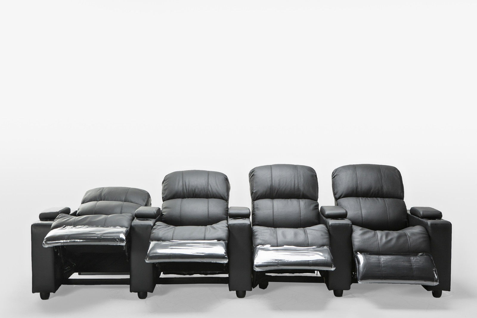 2 Seater Recliner Lounge Sophie Black Leather 4 Seater Home Theatre Recliner Lounge