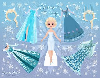 Printable Frozen Paper Dolls