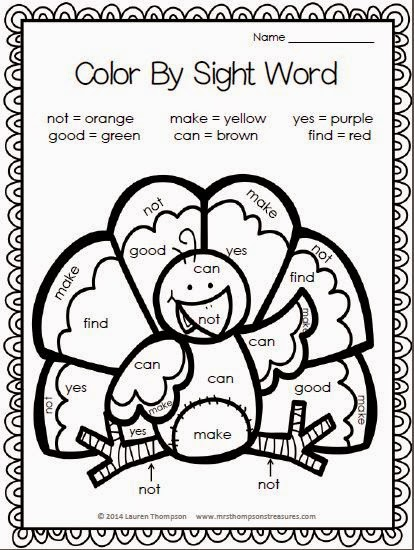 15 Must-Try Printable Fall Sight Word Activities with Turkeys