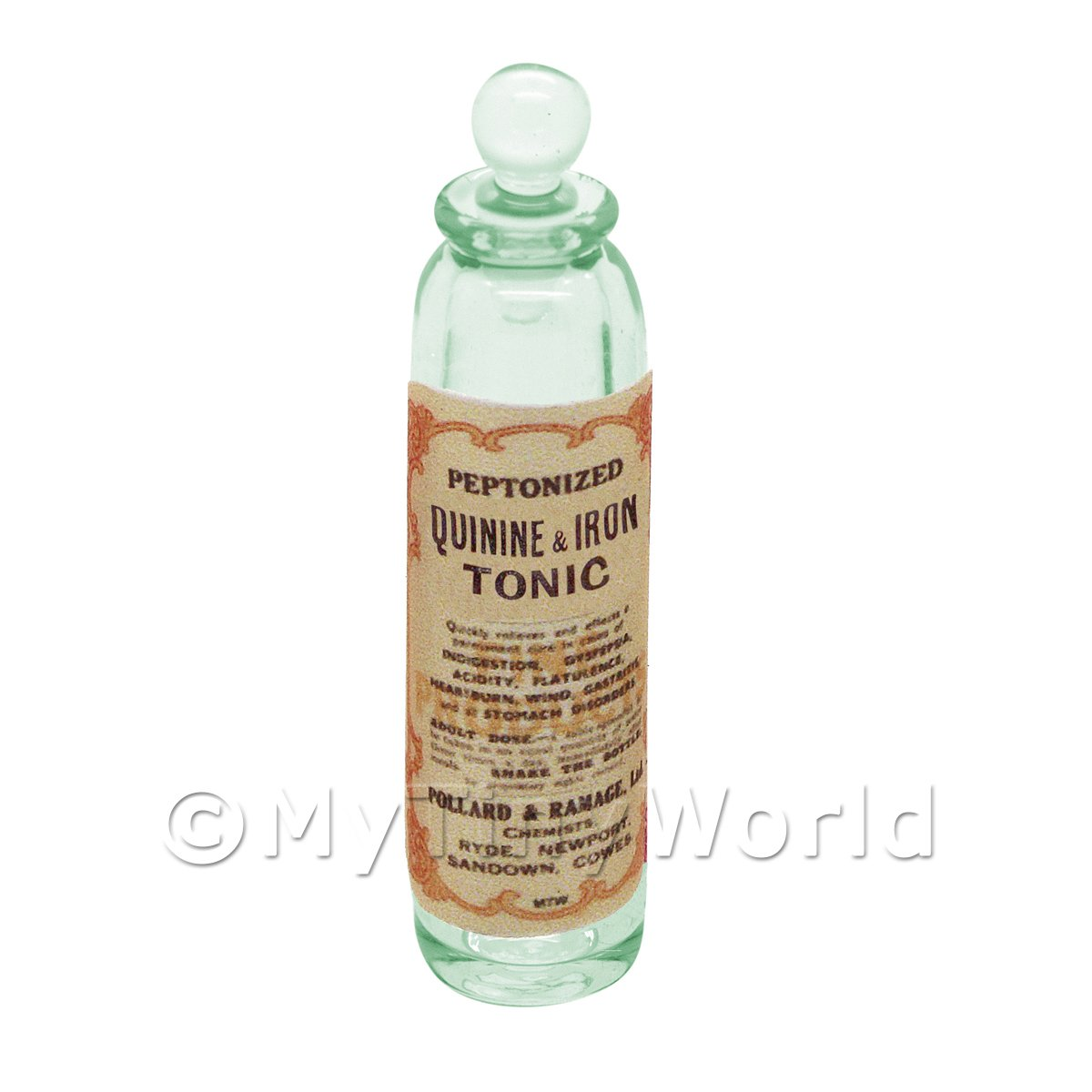 Tonic Kinine Dolls House Miniature Apothecary - Miniature Quinine And