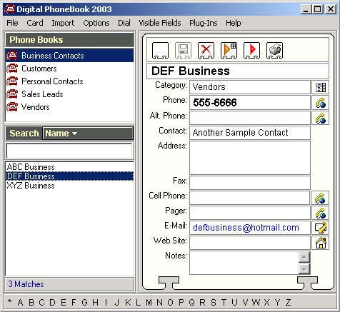 MyTopFiles - Programs - Digital PhoneBook 2003 - DP2003exe - business phone book