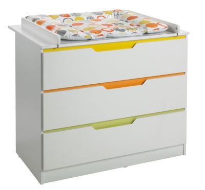 Wickelkommode 80 Cm Breit Wickelkommode Breit Fresh, Weiss/bunt, Geuther | Mytoys