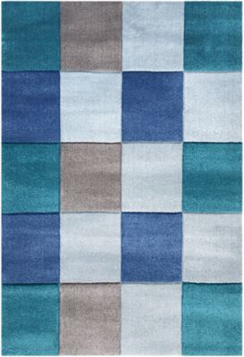 Happy Rugs Teppiche Teppich Checker Blau Happy Rugs Mytoys