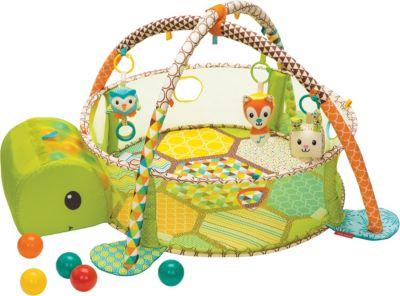 3in1 Krabbeldecke Spielmatt Spielbogen Erlebnisdecke Spielteppich