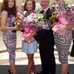 Pictured at the announcement of the Face of Buttercrane winner on Saturday, at Buttercrane's Beautiful Style Day, are (from left) runner-up Kelly Kearney from Camlough , winner Deirbhile Craven from Newry, Peter Murray, Buttercrane Centre Manager, and runner-up Katie Dinsmore from Warrenpoint.