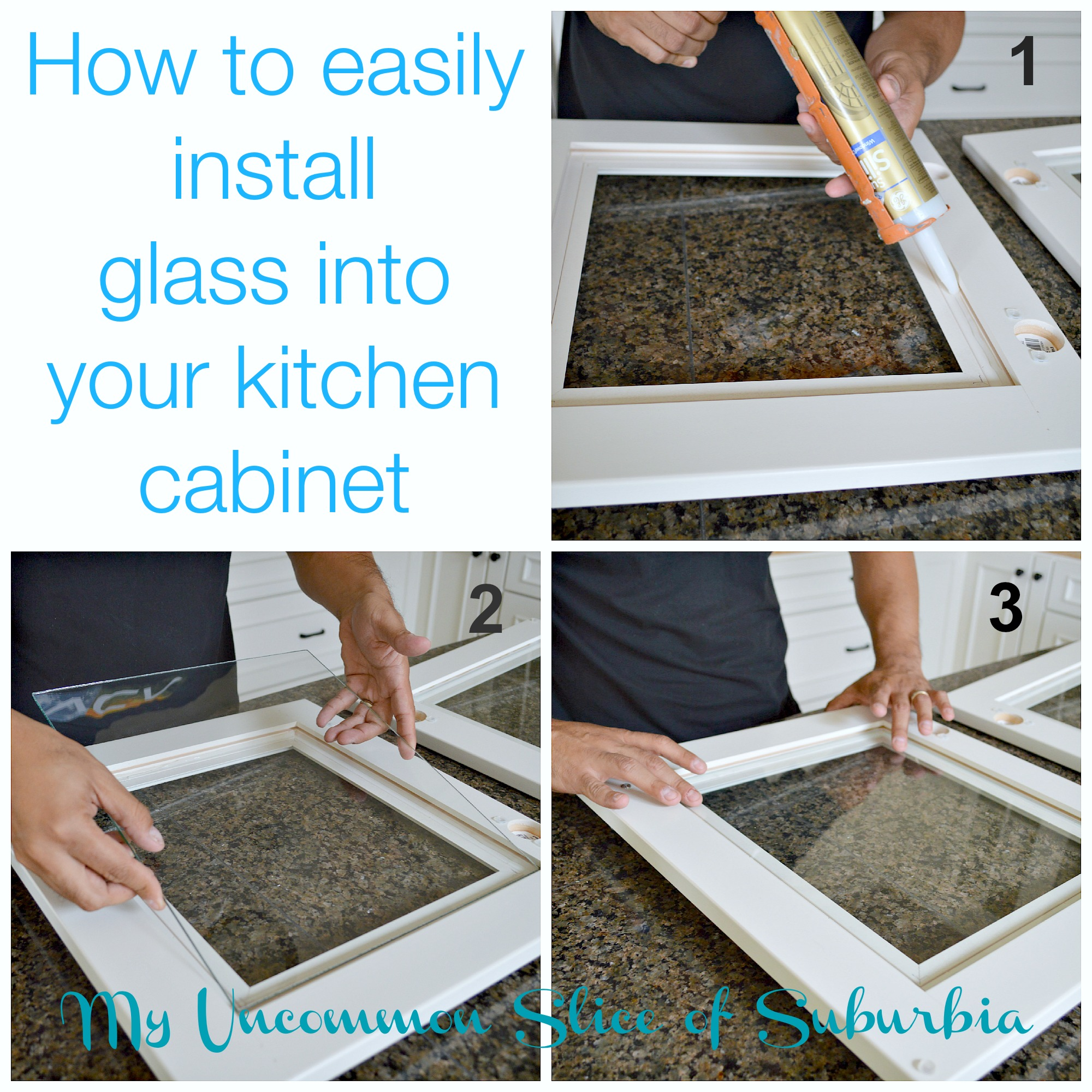 How To Make Kitchen Cabinet Doors With Glass How To Add Glass Inserts Into Your Kitchen Cabinets