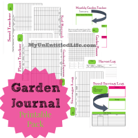 Garden Journal Printable Pack Free month by month planner for your garden