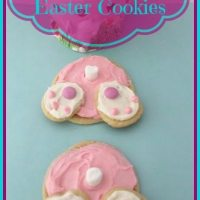 Bunny Butt Easter Cookies