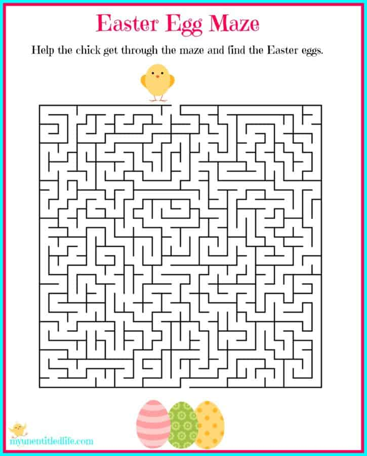Easter Egg Maze Printable