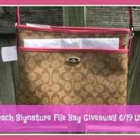 Coach Purse Signature File Bag Giveaway 6/19 US