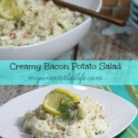 Creamy Bacon Potato Salad! Perfect for 4th of July!