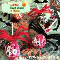 Halloween Sucker Spiders Craft #12daysof