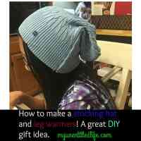 How to make stocking hats and leg warmers from old sweaters #diy #gifts #homemade #diy