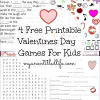 4 Free Printable Valentines Day Games For Kids