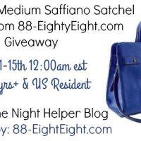88 Bags Katie Cobalt Medium Saffiano Satchel giveaway 2/15 US