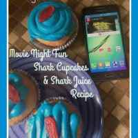 Movie Night Fun with Shark Tales, Cupcakes and Shark Juice Recipes #ad #DataAndAMovie  #FishAndFlicks @FamilyMobile