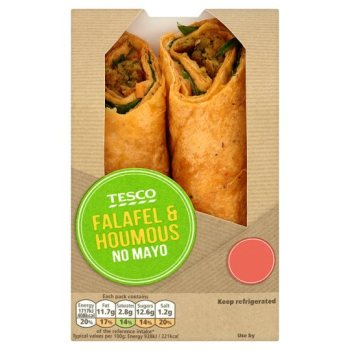 Tesco Falafel And Houmous Wrap