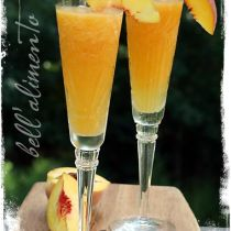 Luscious peach bellini recipe from Bellalimento.com