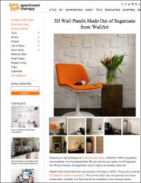 Article - Apartment Therapy about our 3D Wall Panels | My ...