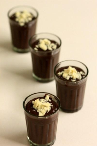 Chocolate Pudding shots - Budino Di Cioccolato - My Weekend Kitchen