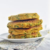 Spinach Chickpea Omelets