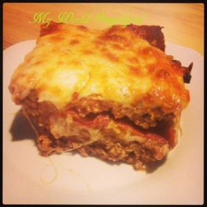 pizza meatloaf with pepperoni