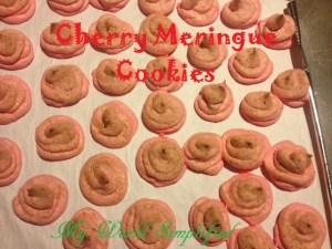 Day 9: Cherry Meringue Cookies