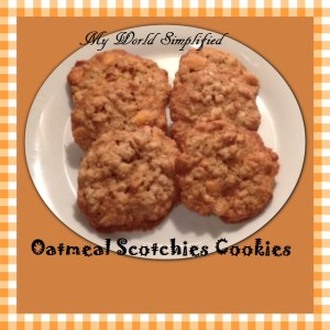 Day 14: Oatmeal Scotchies Cookies