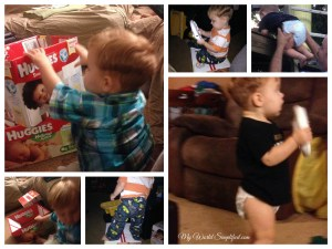 Huggies are snug and fit and fun to play with!