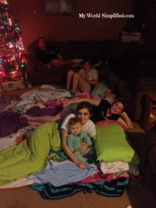 Christmas eve slumber party