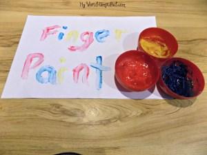 Homemade Finger Paint