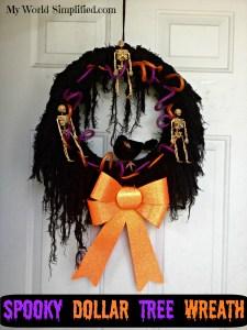 Spooky Dollar Tree Wreath