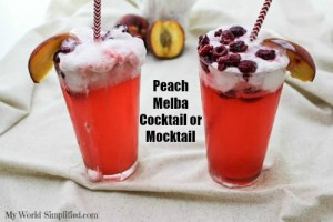 Peach Melba Cocktail or Mocktail