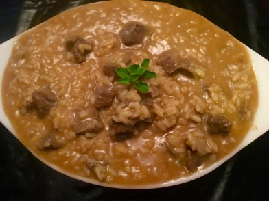 Beef & Cheddar Risotto