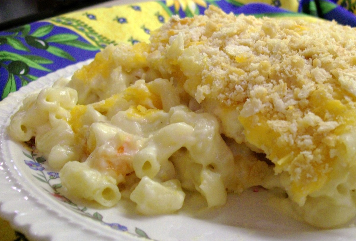 My Yellow Farmhouse Blog Three Cheese Mac And Cheese With Shrimp