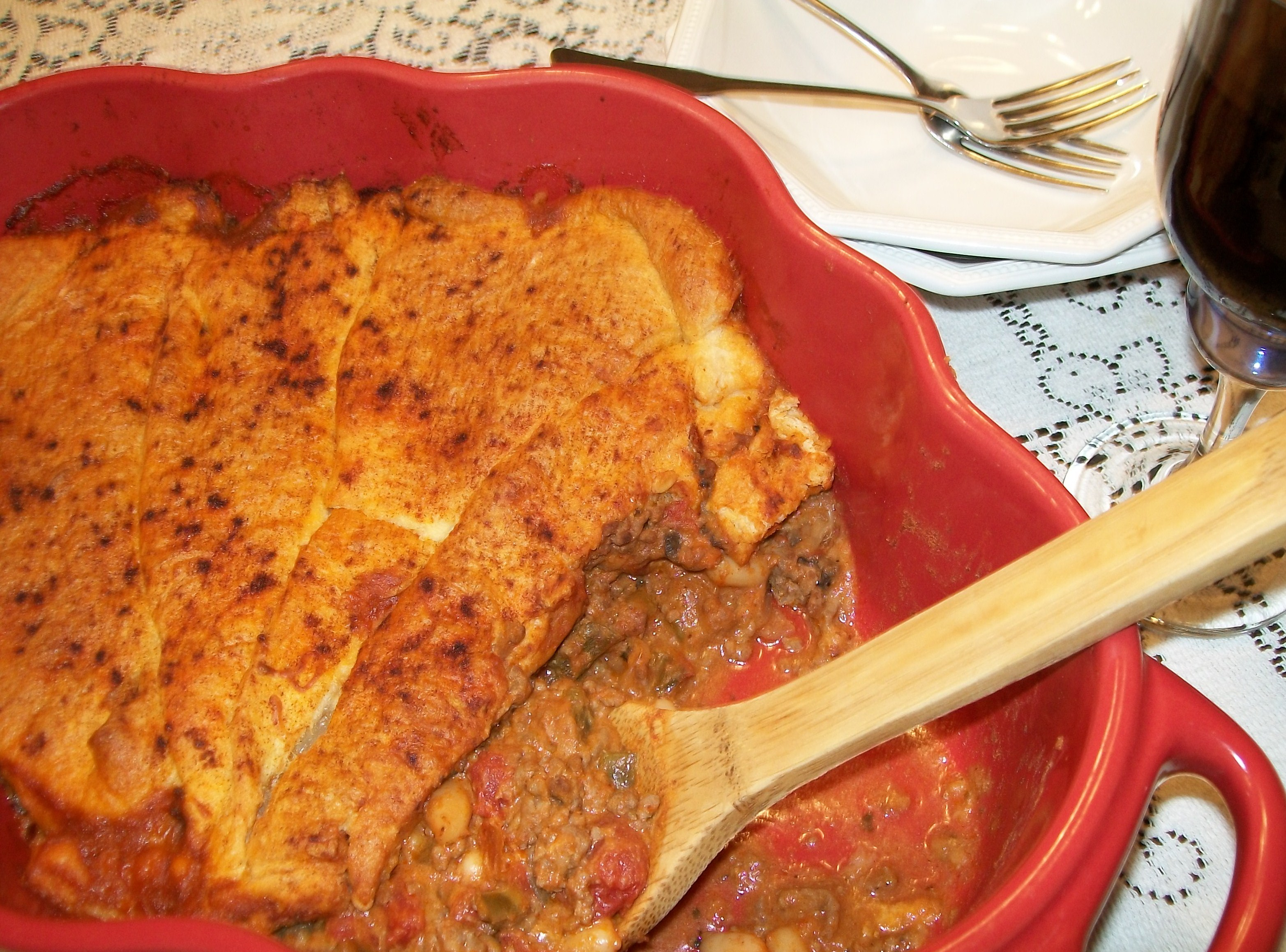My Yellow Farmhouse Blog Tex Mex Casserole With Crescent Roll Crust My Yellow