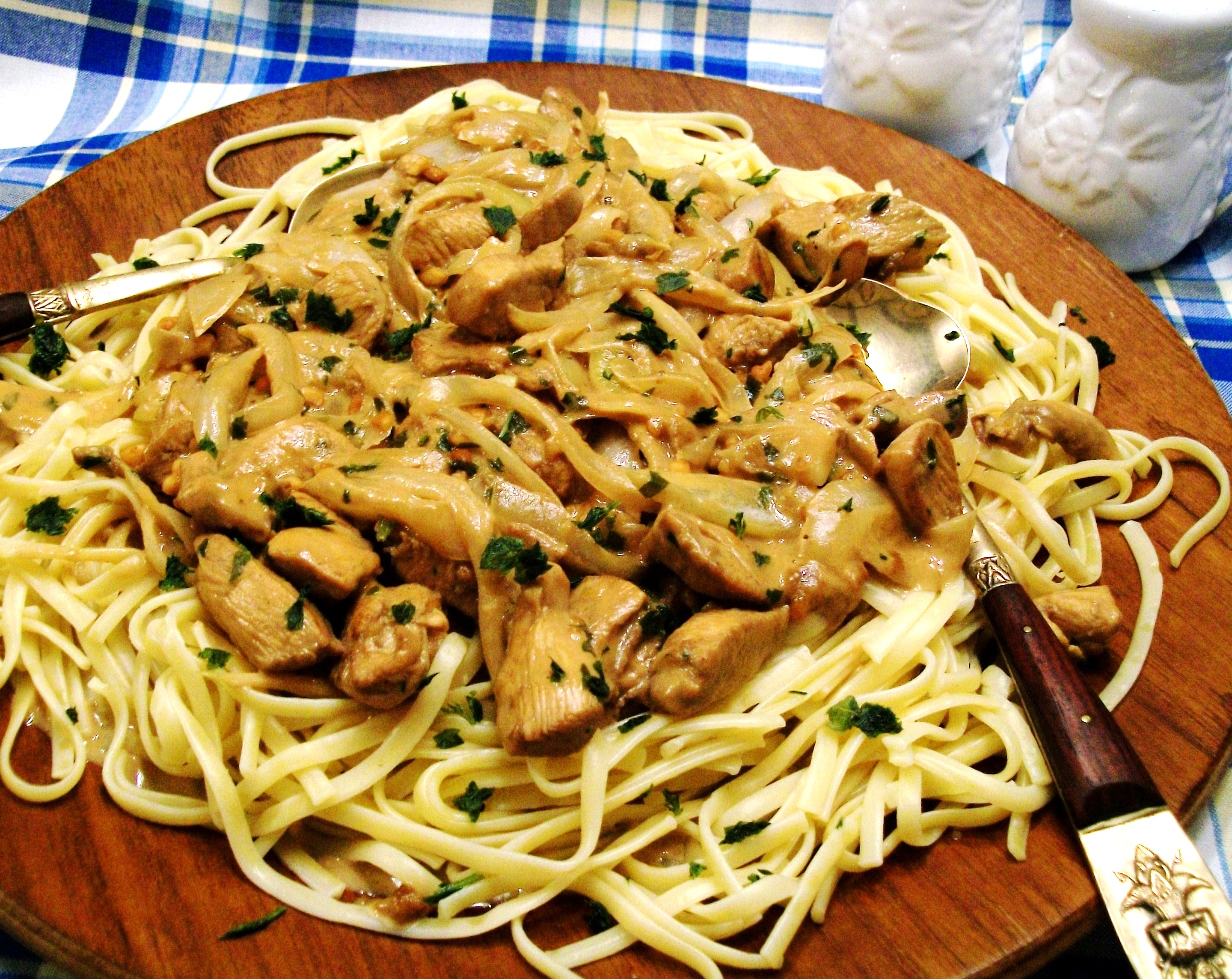 My Yellow Farmhouse Blog Thai Peanut Pork Noodle Saute Recipe Dishmaps